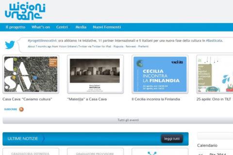 Visioni Urbane, un progetto della Regione Basilicata - Maria Carmela Stella